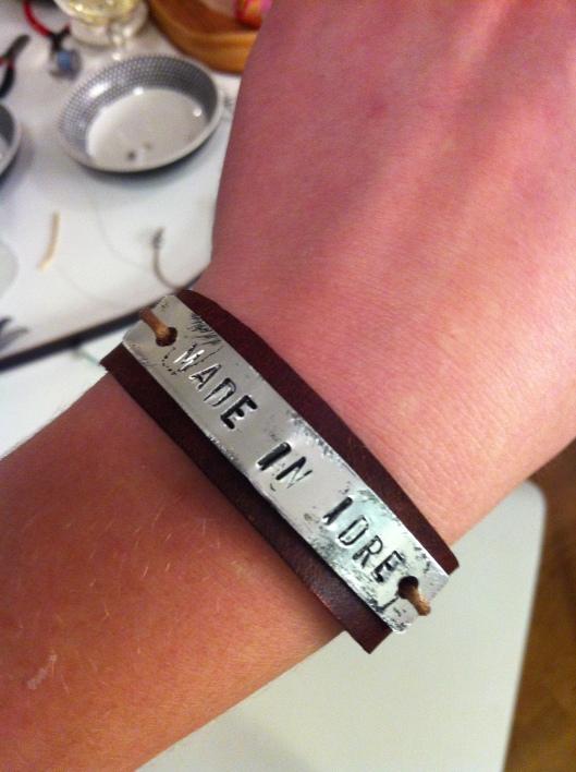 Det är alltså jag som är Made in Idre, inte armbandet ;)